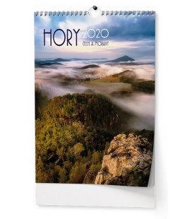 Wall calendar Hory Čech a Moravy 2020