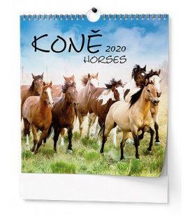 Wall calendar IDEÁL - Koně 2020