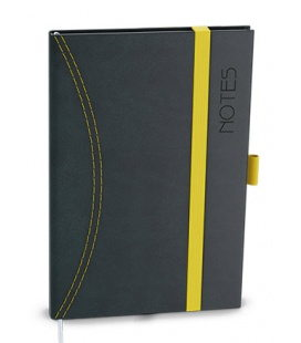 Notepad lined with a pocket A6 - nero 2020