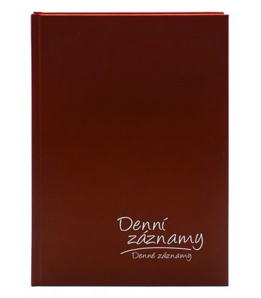 Diary - Daily Notes A5 - bordó 2020