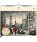 Wood Wall calendar London 2020