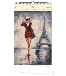 Wood Wall calendar Paris 2020
