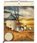 Wood Wall calendar Mills 2020