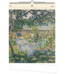 Wood Wall calendar Impressionism 2020