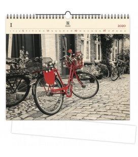 Wood Wall calendar Bicycle 2020