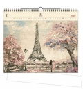 Wood Wall calendar Eiffel Tower 2020