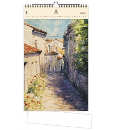Wood Wall calendar Old Street 2020