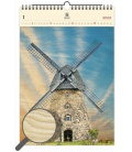 Wood Wall calendar Windmill 2020