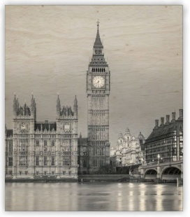 Wall calendar - Wooden picture -  Big Ben 2020