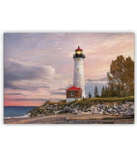 Wall calendar - Wooden picture -  Lighthouse 2020