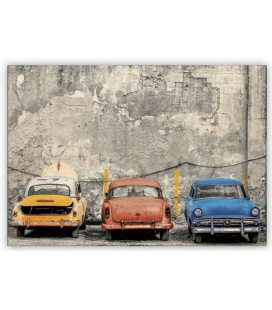 Wall calendar - Wooden picture -  Cars 2020