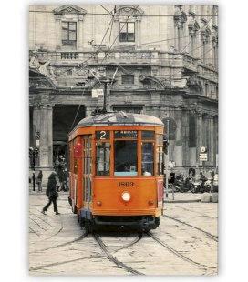 Wall calendar - Wooden picture - Tram 2020