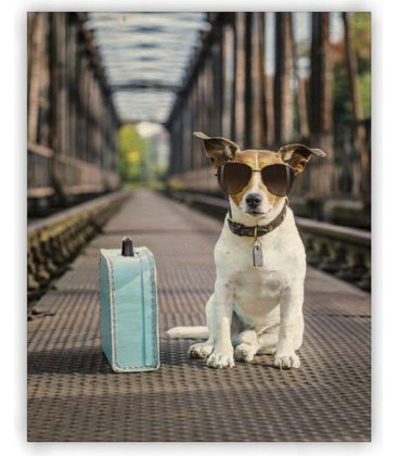 Wall calendar - Wooden picture -  Dog 2020