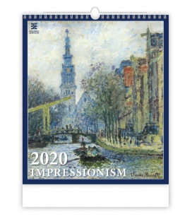 Wall calendar Impressionism 2020