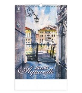 Wall calendar Aquarelle 2020