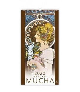 Wall calendar Alfons Mucha 2020