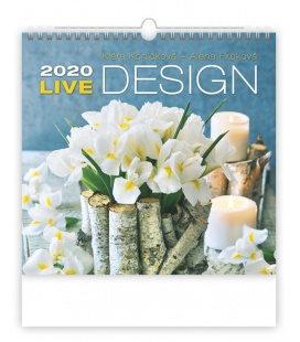 Wall calendar Live Design 2020