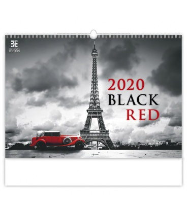 Wall calendar Black Red 2020