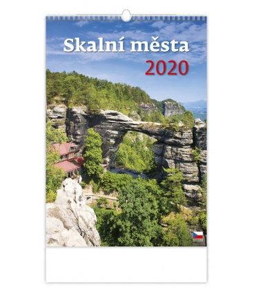 Wall calendar Skalní města 2020