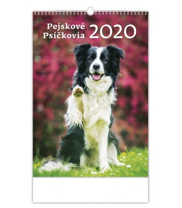 Wall calendar Pejskové/Psíčkovia 2020