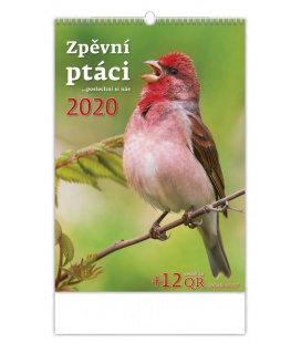 Wall calendar Zpěvní ptáci 2020