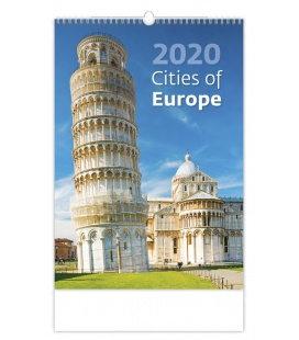 Wall calendar Cities of Europe 2020