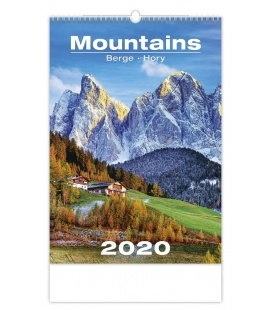 Wall calendar Mountains/Berge/Hory 2020