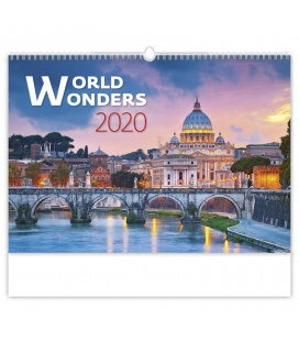 Wall calendar World Wonders 2020