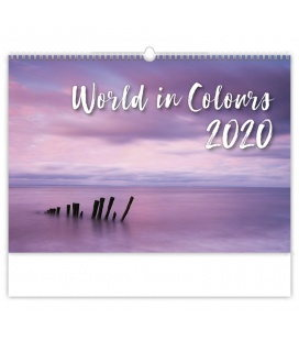 Wall calendar World in Colours 2020
