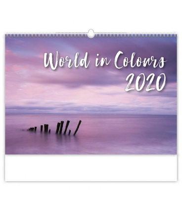 Wall calendar World in Colours 2020