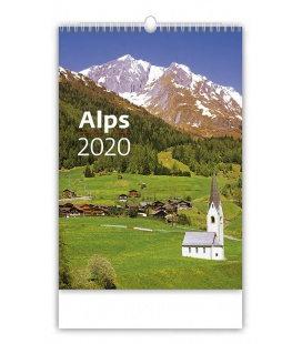 Wall calendar Alps 2020