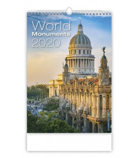Wall calendar World Monuments 2020