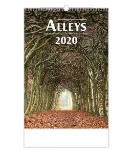 Wall calendar Alleys 2020