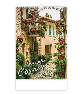 Wall calendar Romantic Corners 2020