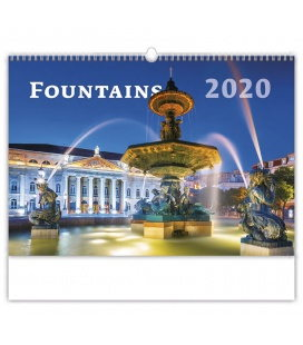 Wall calendar Fountains 2020