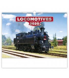 Wall calendar Locomotives 2020