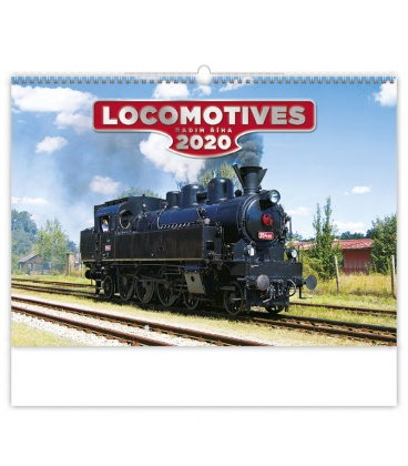 Wall calendar Locomotives 2020