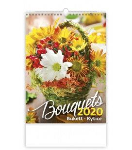 Wall calendar Bouguets/Bukett/Kytice 2020