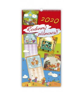 Wall calendar Family planing / Rodinný plánovač 2020