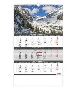 Wall calendar Mountains - 3 monthly / Hory- 3měsíční/Hory - 3mesačné 2020
