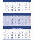 Wall calendar Blue 3 monthly / Tříměsíční modrý 2020