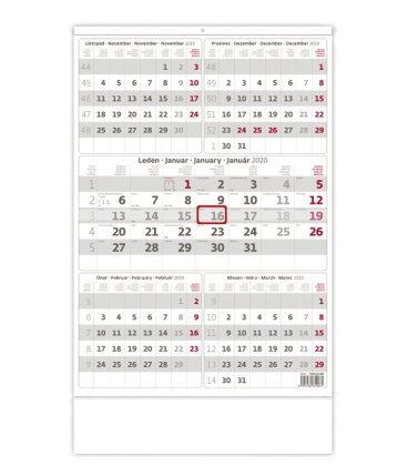 Wall calendar Grey 5 monthly / Pětiměsíční šedý 2020
