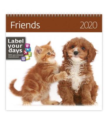 Wall calendar Friends 2020