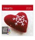 Wall calendar Hearts 2020