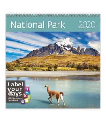 Wall calendar National Parks 2020