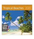 Wall calendar Tropical Beaches 2020