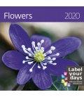 Wall calendar Flowers 2020