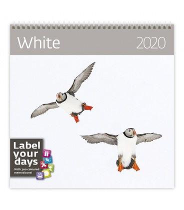 Wall calendar White 2020