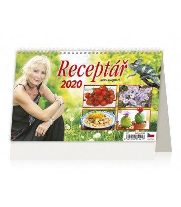 Table calendar Receptář 2020