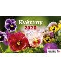 Table calendar Květiny 2020
